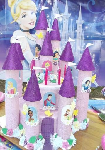 16 x Disney Prince and Princess Window Scenes for Castle Cakes Icing Sheet