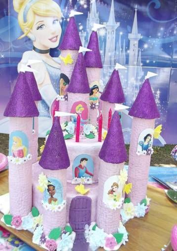 8 x Disney Princess Window Scenes for Castle Cakes Icing Sheet