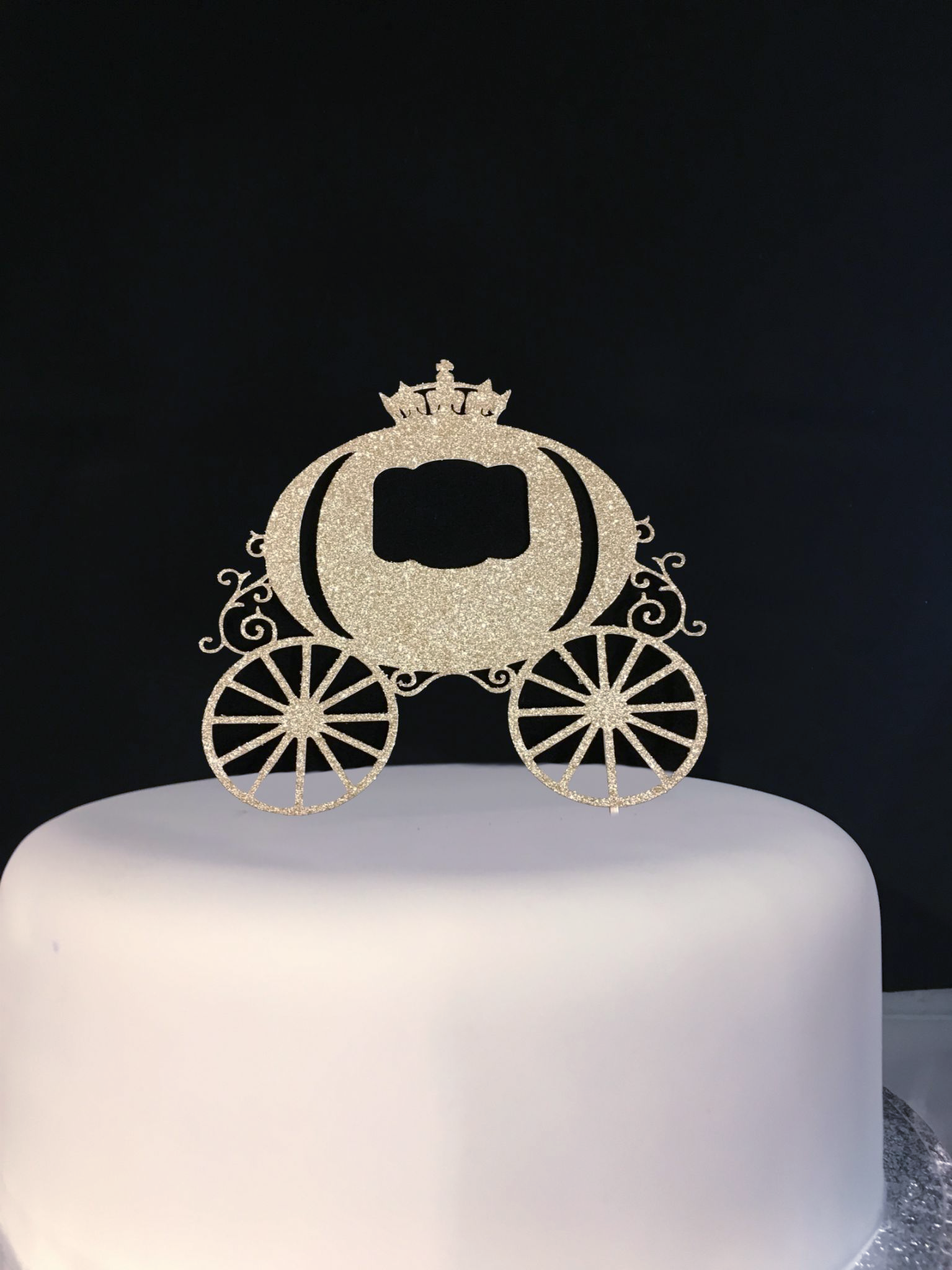 Cake Art Food Grade Casting Gel Uk : Princess Carriage Glitter Cake Pick Topper Sparkly ...