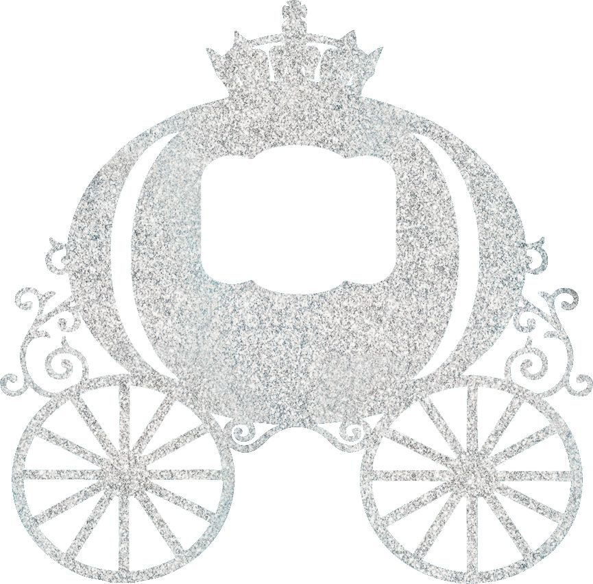 Silver Baby Carriage Cake Topper